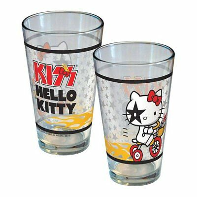Hello Kitty Joins KISS Starchild Tricycle Pint Glass 16 oz1