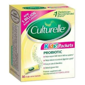 Culturelle Kids Packets Daily Probiotic Supplement 30 Packet