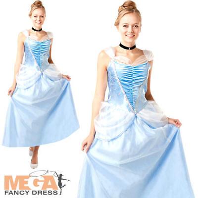 Disney Princess Dress For Adults (Cinderella Ladies Fancy Dress Disney Princess Fairy Tale Womens Adults)