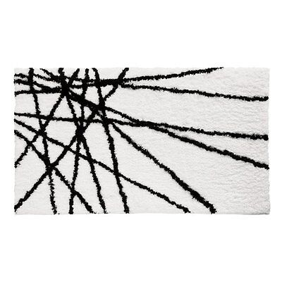 InterDesign Microfiber Abstract Bathroom Shower Accent Rug,