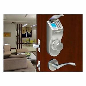 iTouchless Stainless Steel Fingerprint Deadbolt Door Lock