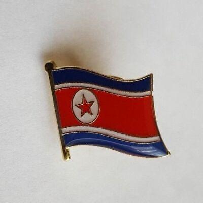 - North Korea Flag Country Metal Enamel Lapel Pin Badge Kim Jong Un