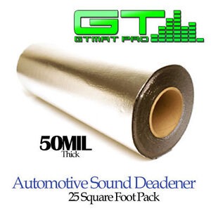 25 Sq Ft 50 mil adhesive foil Faced Insulation Sheeting Sound Deadner Mat Shield