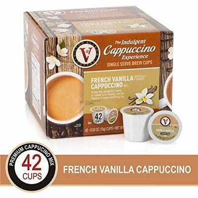 French Vanilla Flavor Cappuccino 42 Count K-Cup Keurig Single Serve Coffee Pods French Vanilla Flavoring