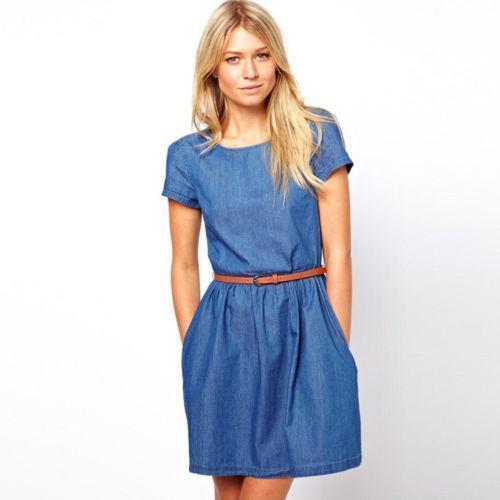 Beautiful  Womens Jean Dress Blue  Clothes  Pinterest  Dress Blues Jean