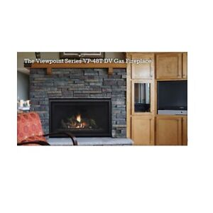 Stellar viewpoint gas fire place. model VP48T-NG