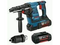 Bosch GBH 36 VF-Li Plus 36V SDS-Plus Hammer Drill (with 3 x 4.0Ah, Extra Keyless Chuck)
