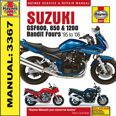 Haynes Suzuki GSF600 GSF1200 600 650 1200 Bandit 1995 - 2006 Manual 3367 NEW