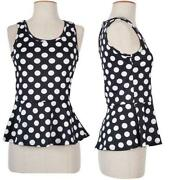 Polka-dot Blouse Black and White