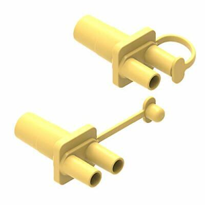 BabyValley Tubing Adapter Compatible with Ameda Purely Yours yellow 2pc Ameda Tubing Adapter