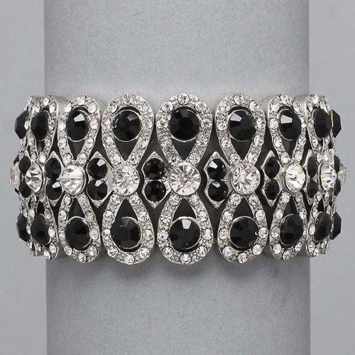 Black Crystal Bracelet EBay