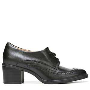 Women's Brand New Stacked Heel Leather Oxfords by Naturalizer