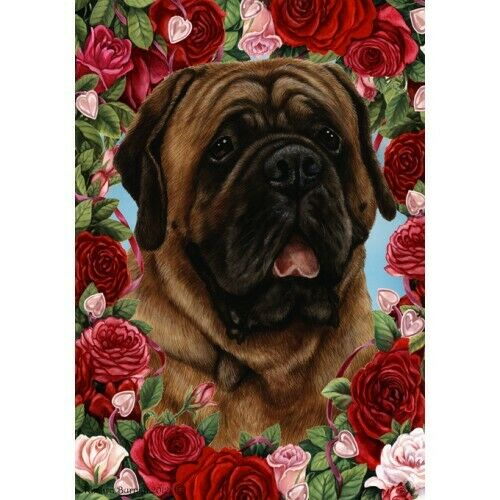 Roses Garden Flag - Red Mastiff 192761