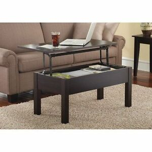Wood Lift Top Coffee End Table Inside Storage Living Room Furniture Modern