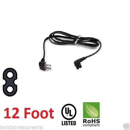 Samsung 3903-000853 Right Angle 2-Prong TV Power Cord, 5FT L