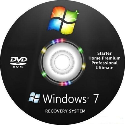 windows 7 recovery disc ebay. Black Bedroom Furniture Sets. Home Design Ideas