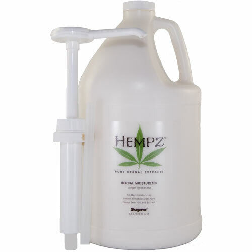 Hempz Herbal Moisturizer Lotion Gallon After Tan with Pump