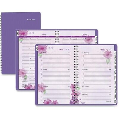 Beautiful Day Desk Weeklymonthly Appt Book 5-12 X 8-12 Purple 2014