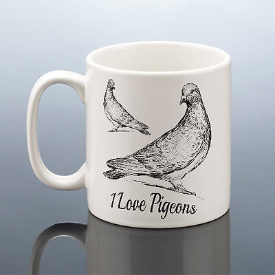 I LOVE PIGEONS MUG RACING PIGEON FANCIER Cup Birthday Gift Men Dad Him Her Nan