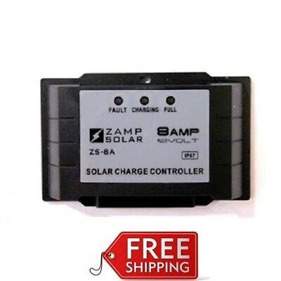 Zamp Solar ZS8AWPP 8 Amp Plug-N-Play Solar Charge Controller