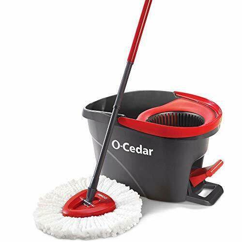 O-Cedar EasyWring Microfiber Spin Mop, Bucket Floor Cleaning System - $39.97