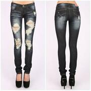 Womens Destroyed Jeans