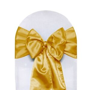 GOLD CHAIR SASHES FOR RENT