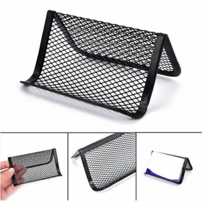 Metal Wire Mesh Business Card Display Holder Desk Accessories Useful Black Us