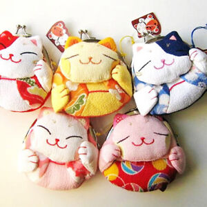 Cute-Japanese-Kimono-Lucky-Fortune-Cat-Neko-Coin-Purse-Wallet-Oriental-Xmas-Gift