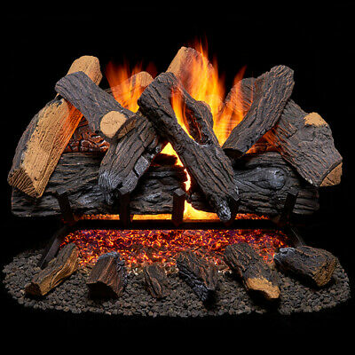 Duluth Forge Vented Natural Gas Fireplace Log Set - 24 in., 55,000 BTU, Heartlan Vented Natural Gas Fireplaces