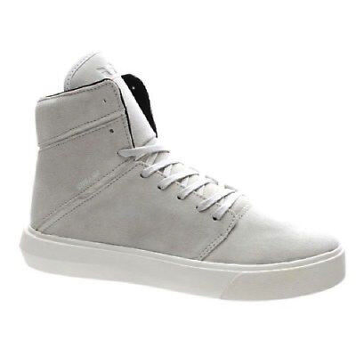 Supra Camino Herren High Top Veloursleder Skateschuhe Sneakers Hellgrau / (Supra Schuhe Herren High-tops)