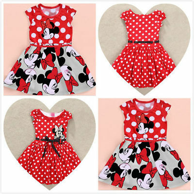 Hot Sale 2 Minnie Mouse Princess Birthday Party Girls Dresses Kids Clothing - Sale Girls Dresses
