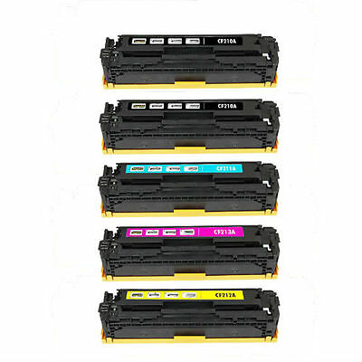 5-Pack Toner Set for HP LaserJet Pro 200 Color MFP M276nw M251nw M251n CF210X