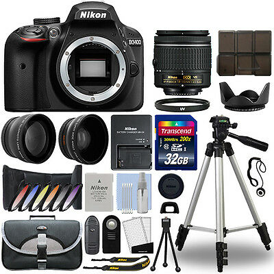 Nikon D3400 Digital SLR Camera + 18-55mm VR 3 Lens Kit + 32GB Best Value Kit (Best Cheap Digital Camera)