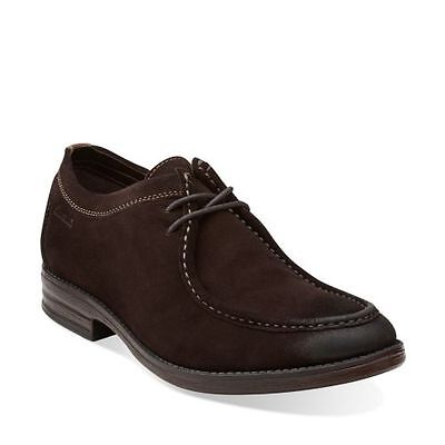 Clarks Casual Oxford (Clarks Men's Delsin Rise Casual Oxford Brown Leather Suede Shoes Style# 26101895)