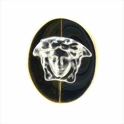Versace  ring Medusa Gold Silver  Woman unisex Authentic Used (Versace Womens Rings)