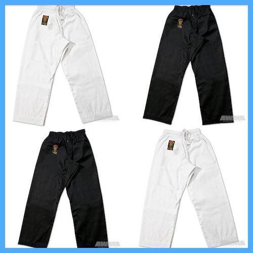 New Proforce Gladiator Lightweight Karate Black or White Martial Arts Pants TKD