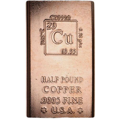 1/2 Pound Copper Bar -  8 oz Elemental