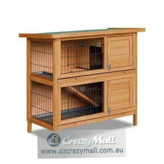 Spacious High Quality Fir Wood Rabbit Hutch Cage
