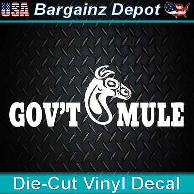 Portuguese Home Decor Vinyl Decal.. GOV'T MULE..  Warren Haynes Band Car Laptop Sticker Decal  Trends In Home Decor 2014