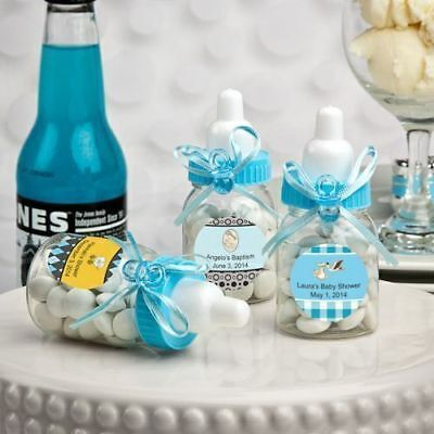 80-300 Personalized Blue Baby Boy Bottle - Baby Shower Birthday Party Favor](Baby Shower Stuff)