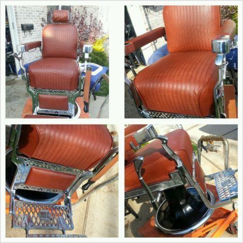 Restored Barber Chair EBay