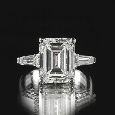 2.76ct GIA 18K White Gold Emerald Cut Diamond Engagement Ring G/VS1 (10281253)