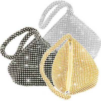 Women Diamante Clutch Bag Ladies Evening Bag Bridal Wedding Handbag Purse Pouch