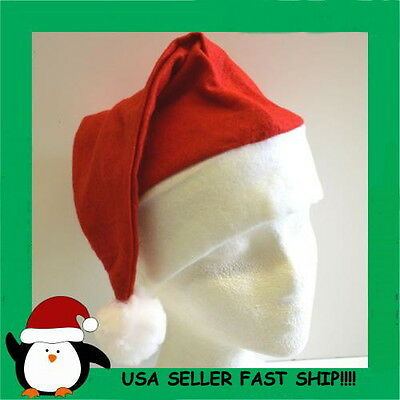 WHOLESALE LOT OF 100 SANTA CLAUS HATS CHRISTMAS PLAYS  FITS MOST PARTY FAVOR  - Christmas Hats Wholesale