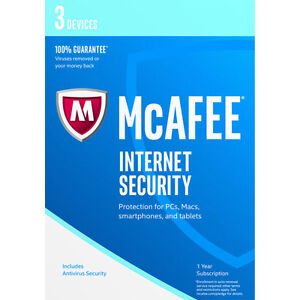 McAFEE INTERNET SECURITY 2018/2019 - 3 DEVICES
