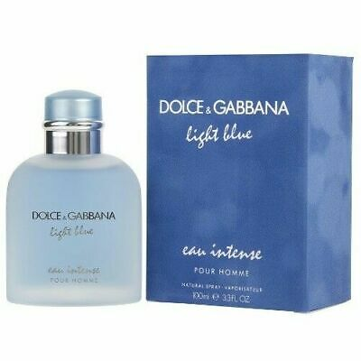LIGHT BLUE EAU INTENSE by DOLCE & GABBANA 3.3 o.z EDT *MEN'S PERFUME*NEW COLOGNE