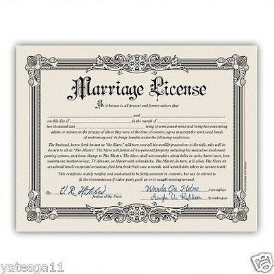 Funny Marriage License Bachelorette Bachelor Party Wedding Gag Gift - Bachelor Party Gifts