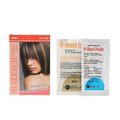 Hi Bleach Powder 10G & Lotion 30ml Minimize Hair Damage Easy & Quick DIY in Home