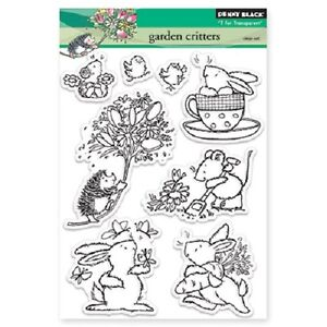 PENNY-BLACK-RUBBER-STAMPS-CLEAR-GARDEN-CRITTERS-STAMP-SET